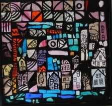 town in glass pink